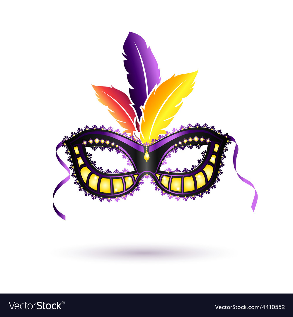 Colored carnival mask vector | Price: 1 Credit (USD $1)