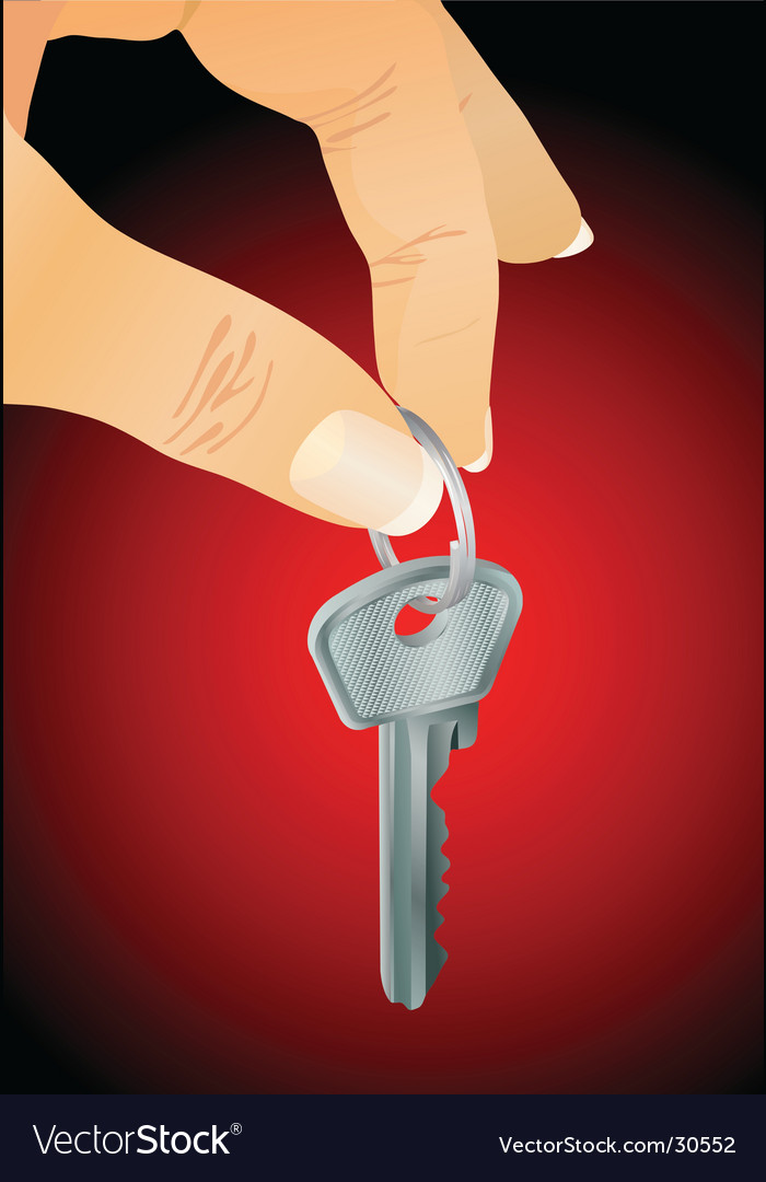 Hand with key vector | Price: 1 Credit (USD $1)