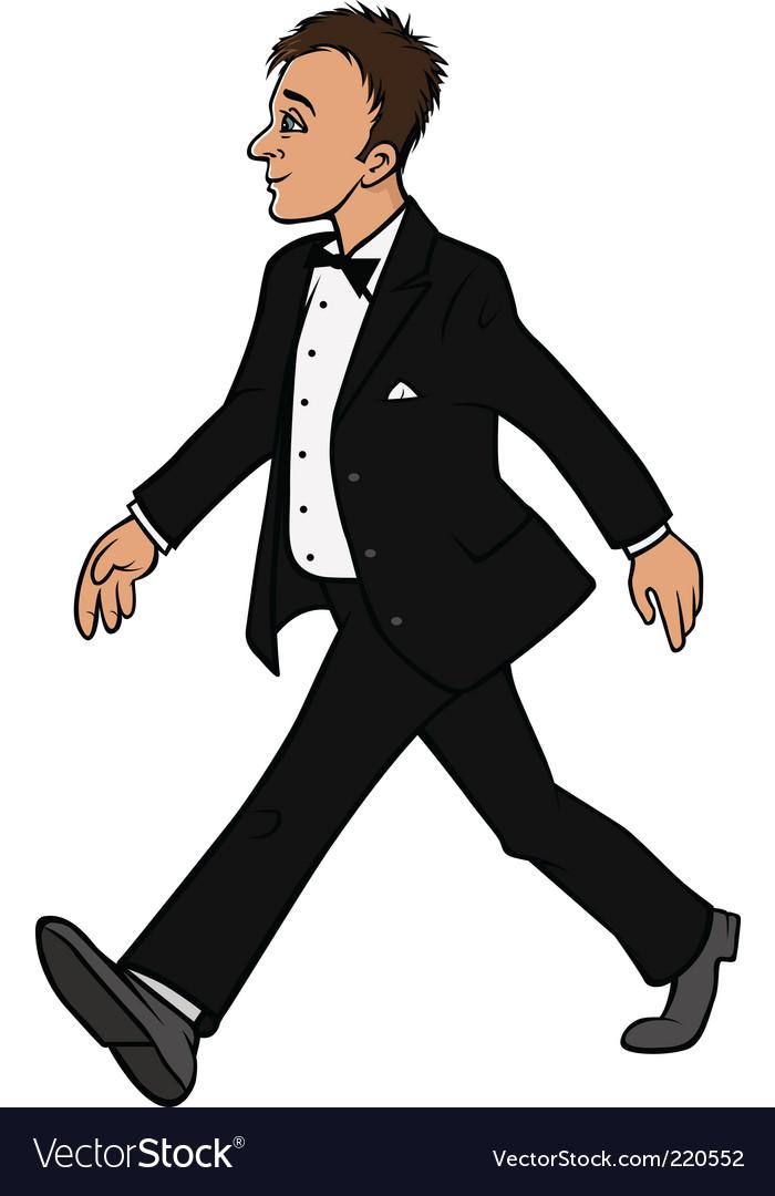 Man in tuxedo vector | Price: 3 Credit (USD $3)