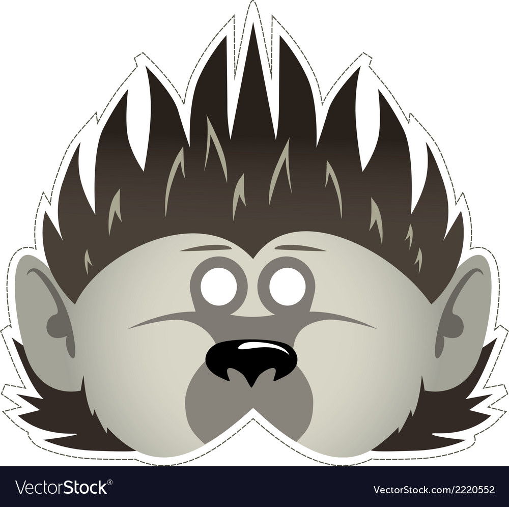 Mask hedgehog vector | Price: 1 Credit (USD $1)