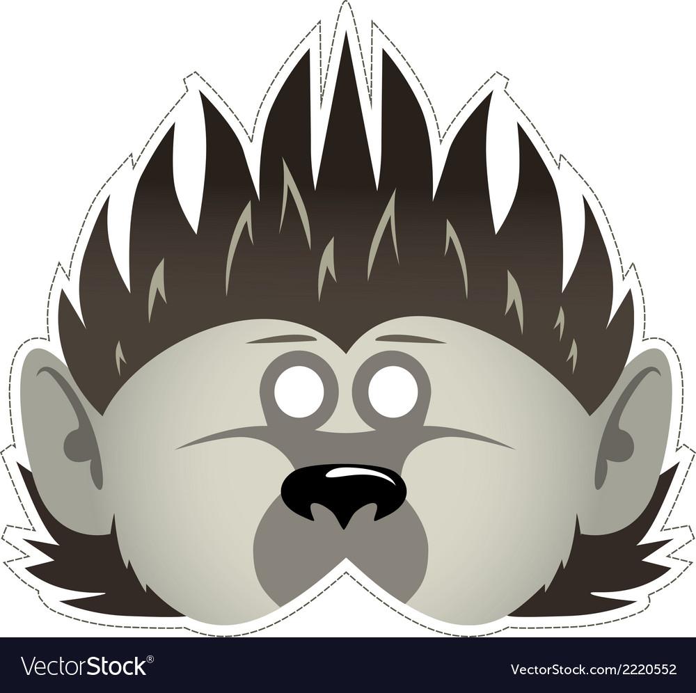Mask hedgehog vector | Price: 1 Credit (USD $1)