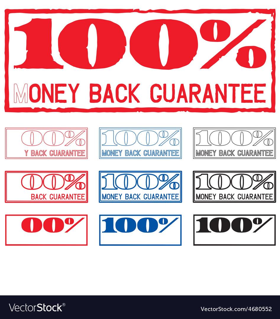 Money back guarantee vector | Price: 1 Credit (USD $1)