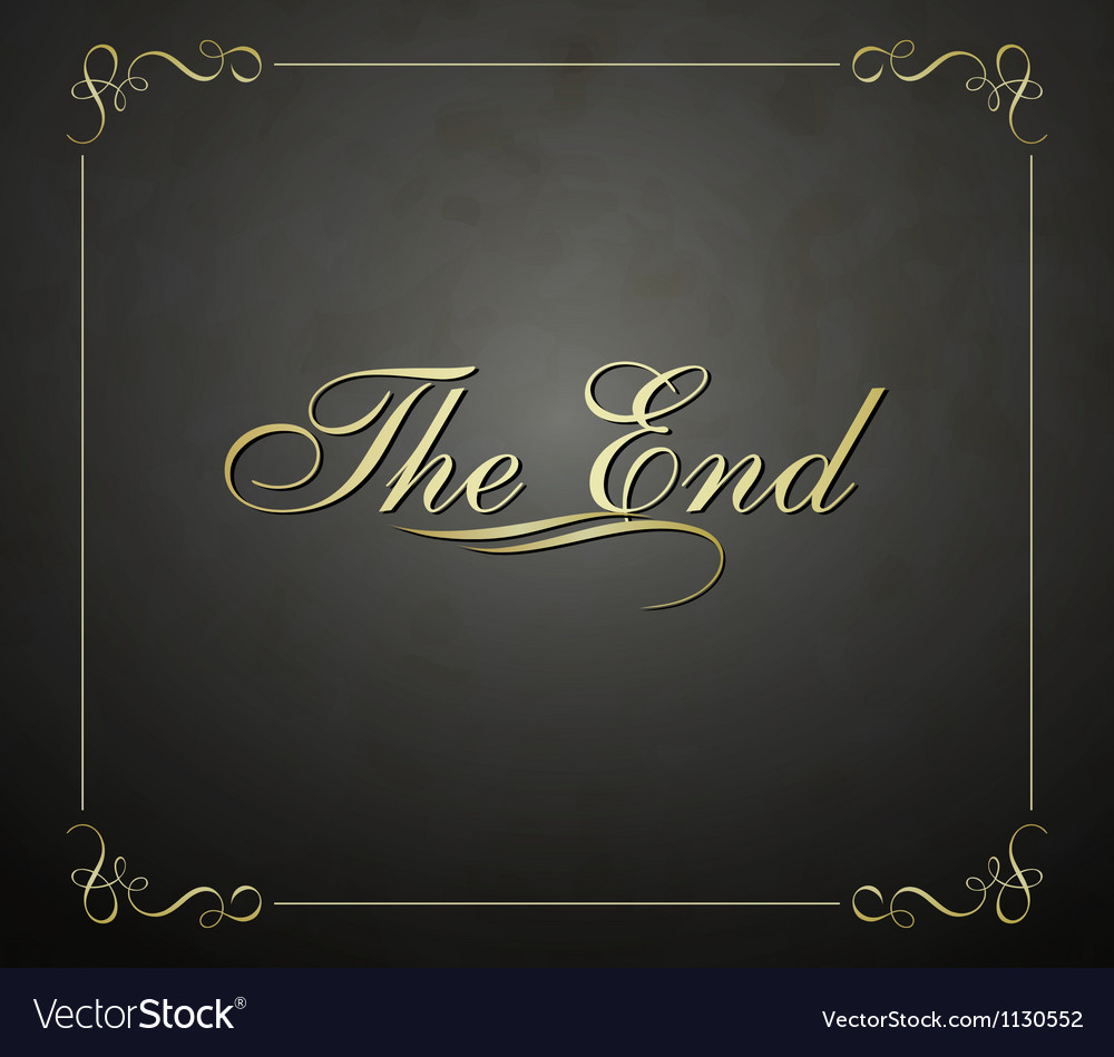 Movie ending vector | Price: 1 Credit (USD $1)