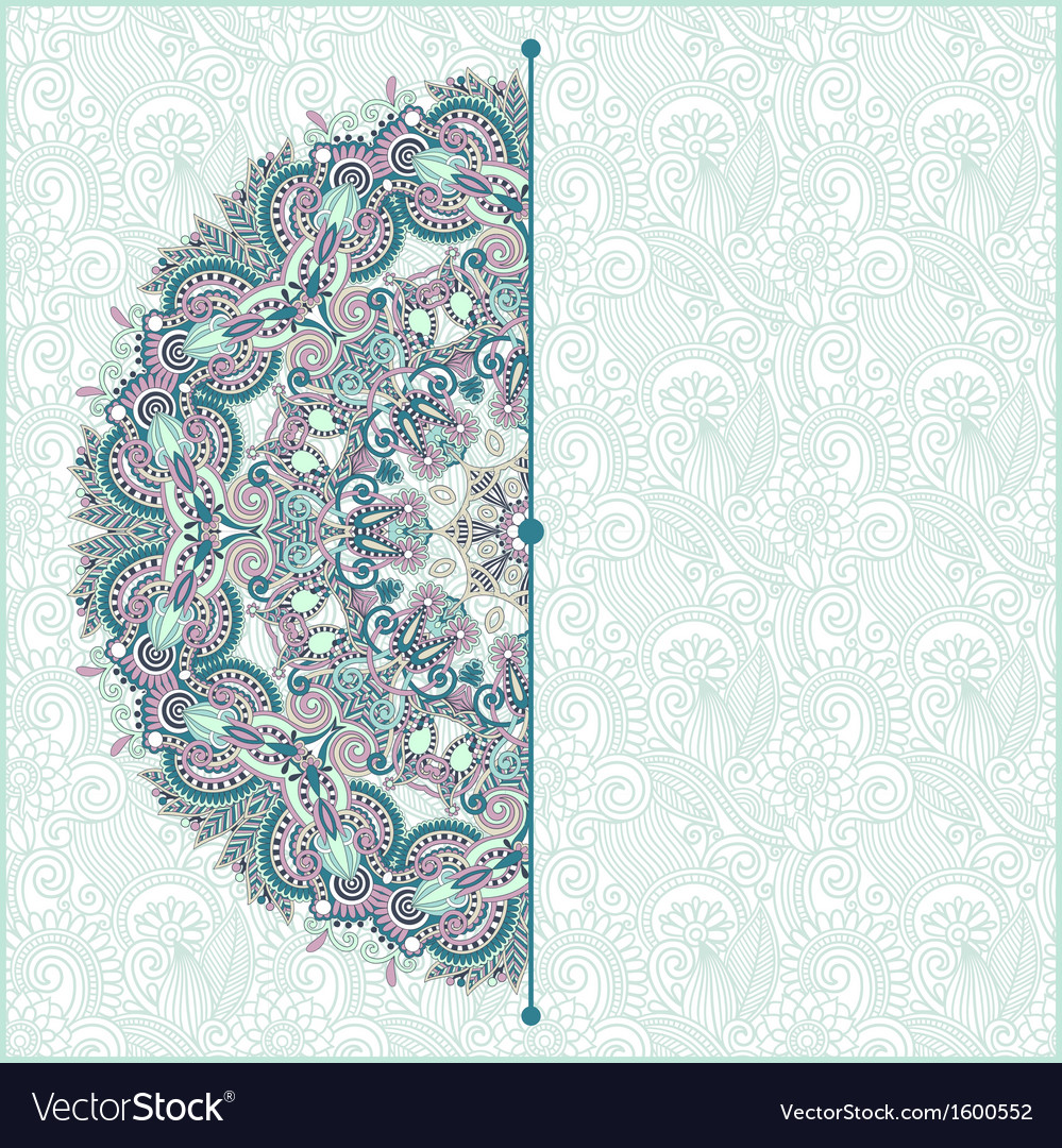 Ornamental circle template with floral background vector | Price: 1 Credit (USD $1)