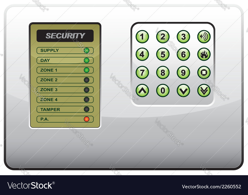The panel of the security system vector | Price: 1 Credit (USD $1)