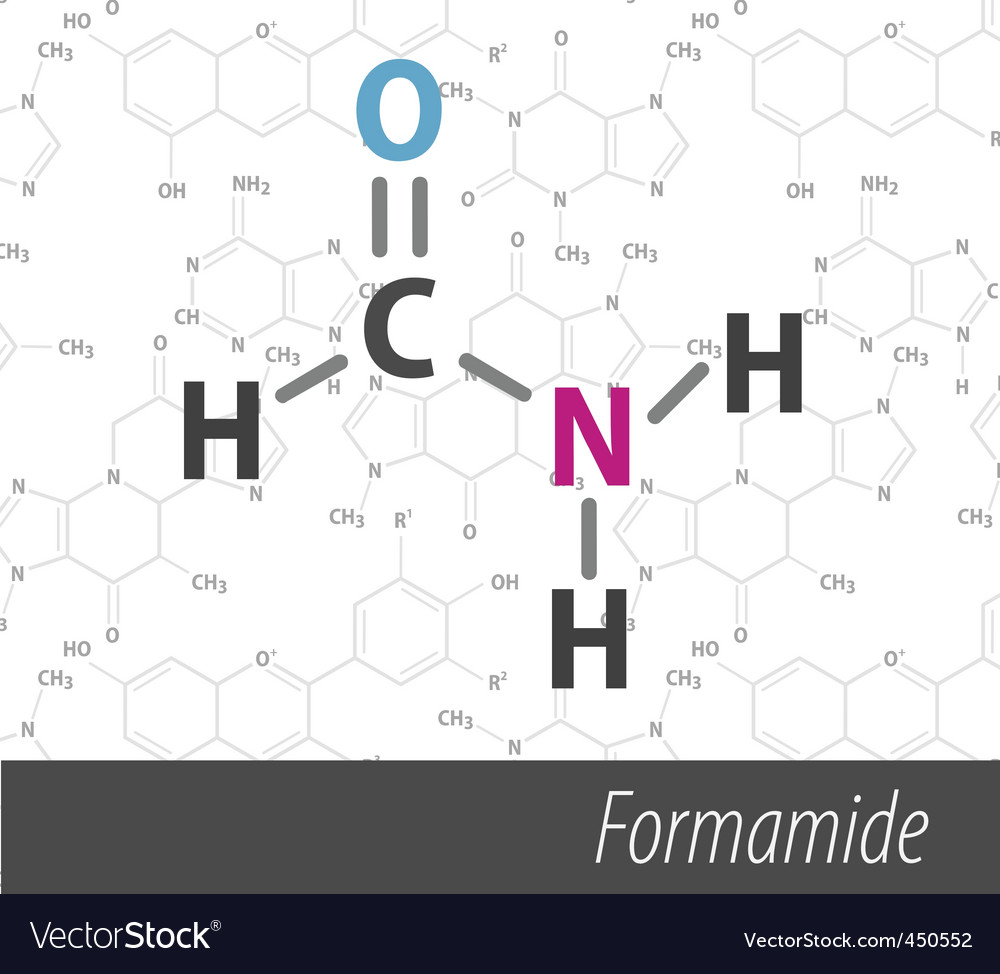 Set of chemistry organic formulas vector | Price: 1 Credit (USD $1)