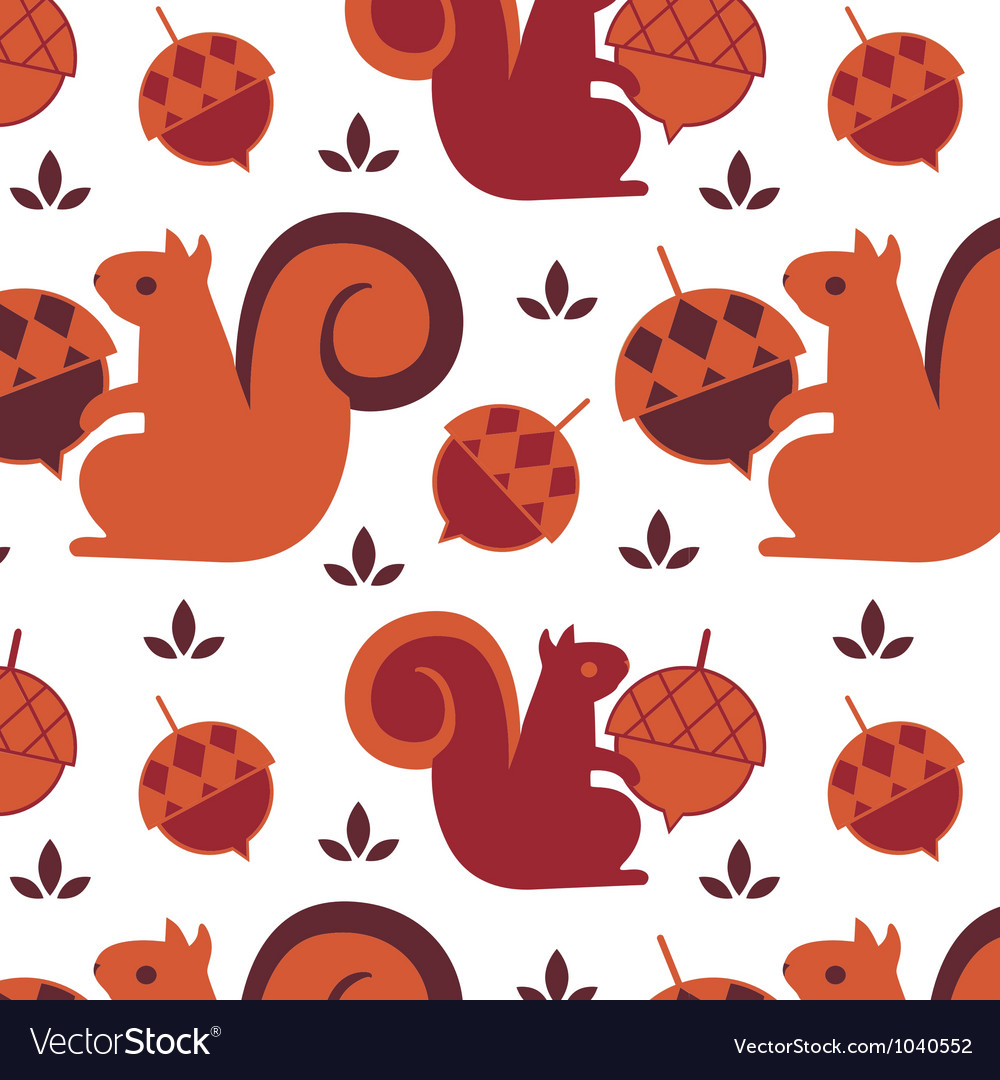 Squirrel seamless backound vector | Price: 1 Credit (USD $1)