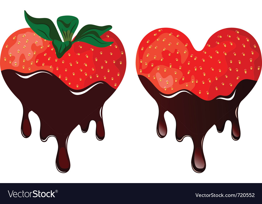 Strawberry in chocolate vector | Price: 1 Credit (USD $1)