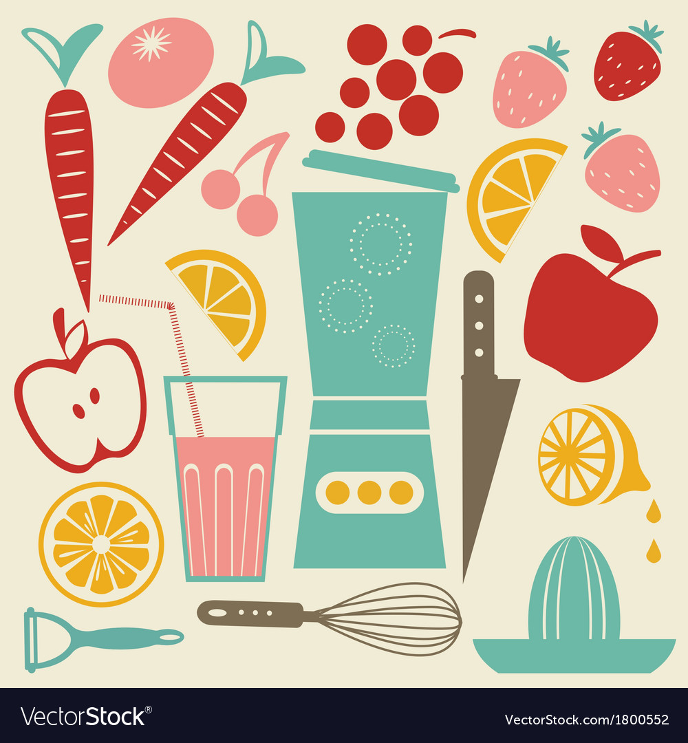 Summer kitchen vector | Price: 1 Credit (USD $1)