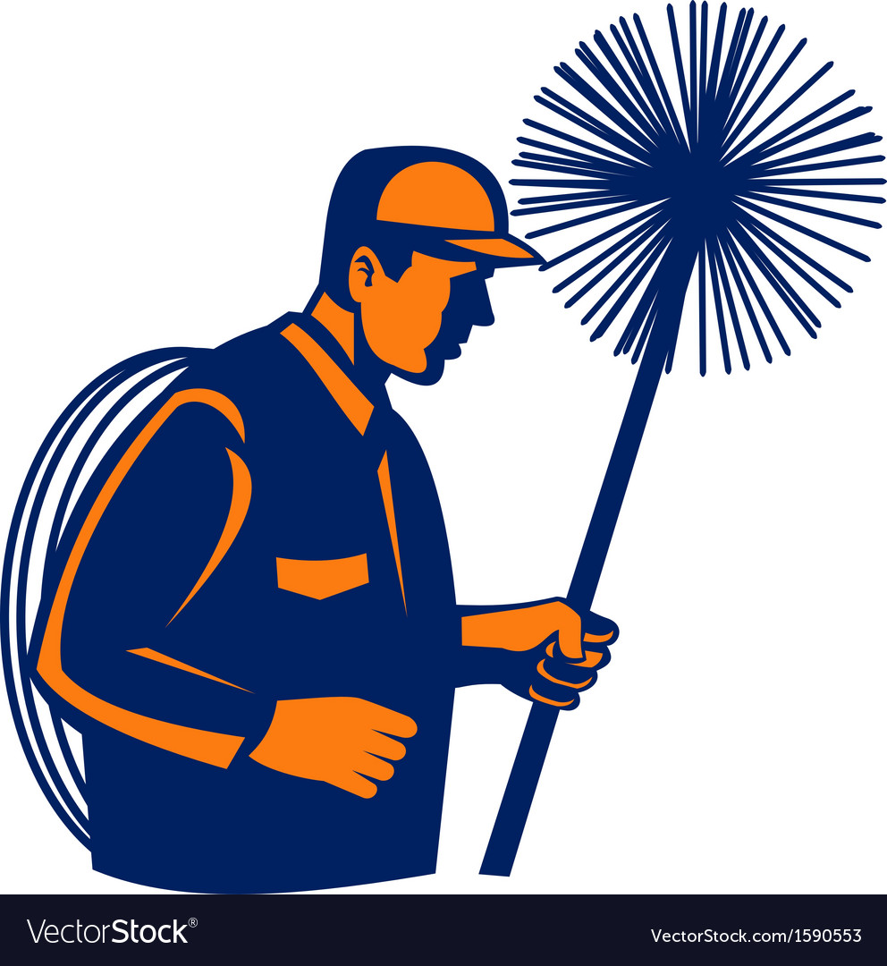 Chimney sweeper or cleaner vector | Price: 1 Credit (USD $1)