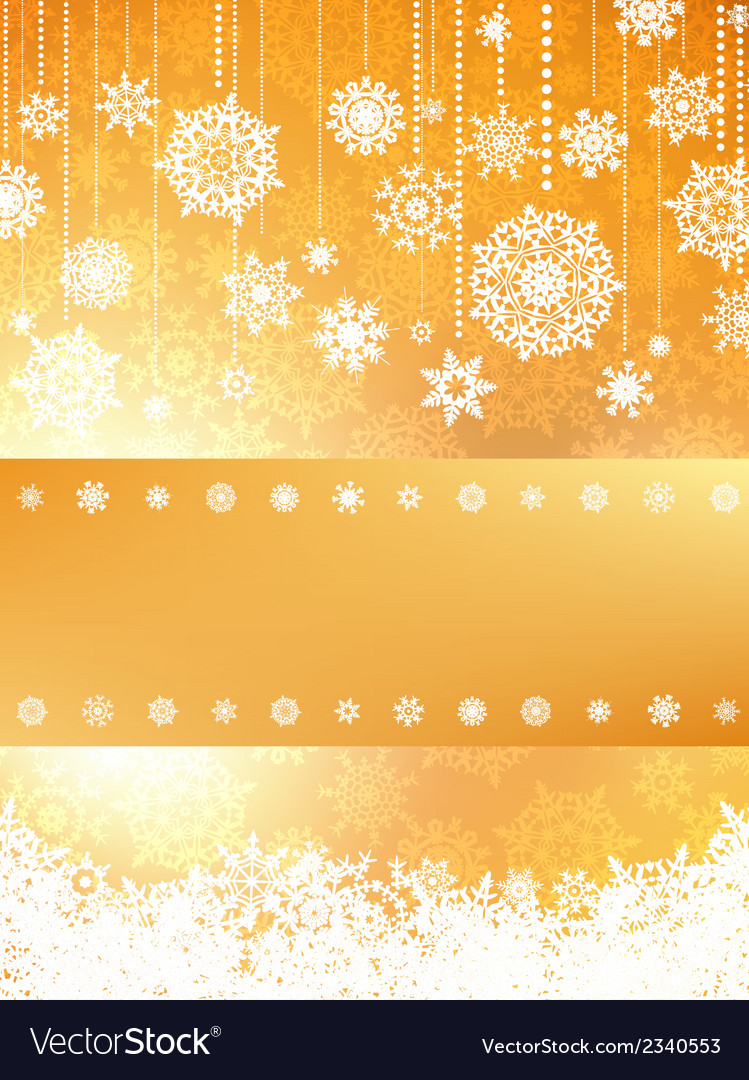 Christmas card in orange color eps 8 vector | Price: 1 Credit (USD $1)