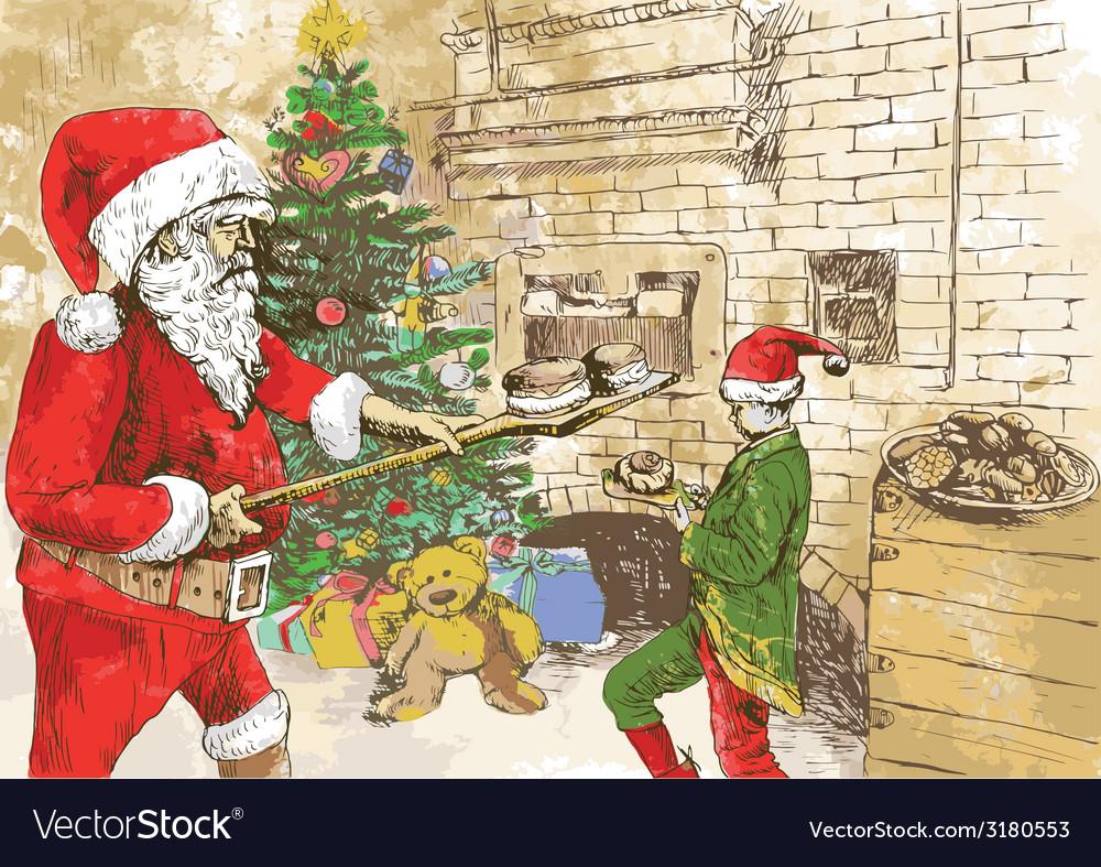 Christmas theme - santa claus vector   Price: 1 Credit (USD $1)