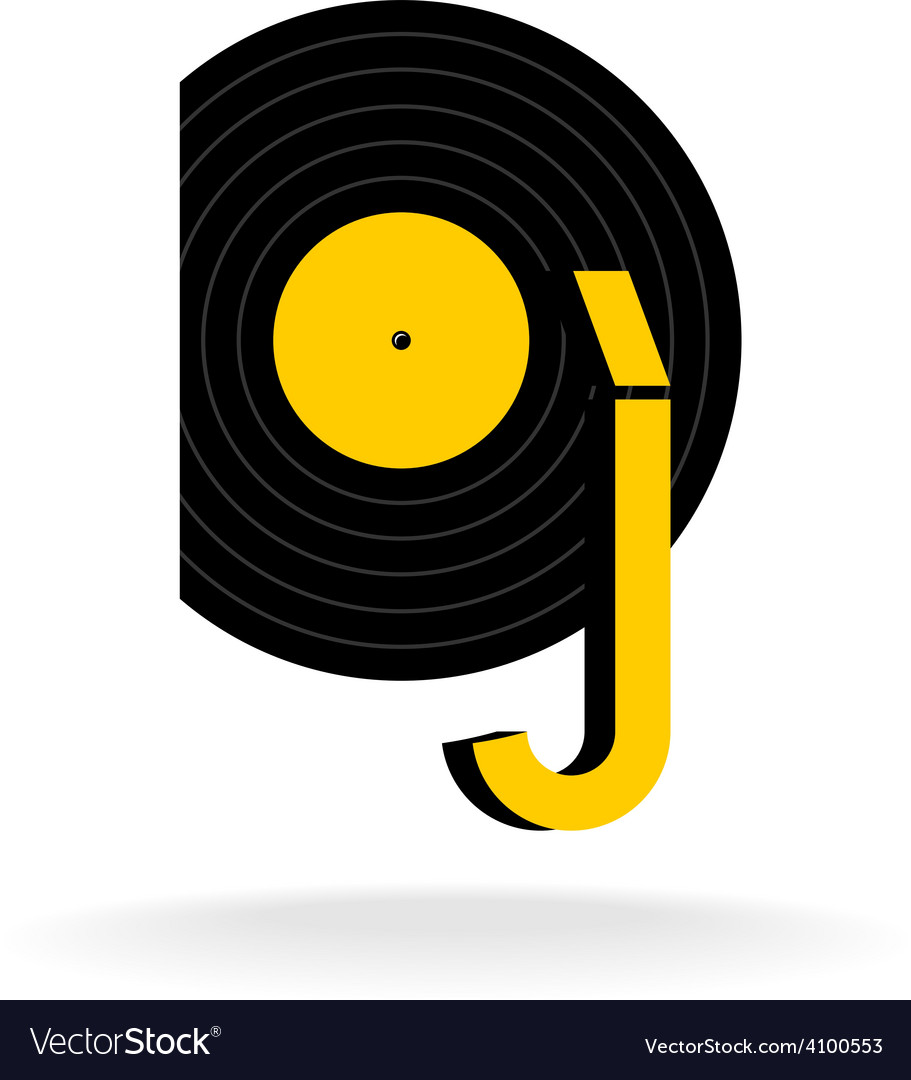 Dj logo concept music sign vector | Price: 1 Credit (USD $1)