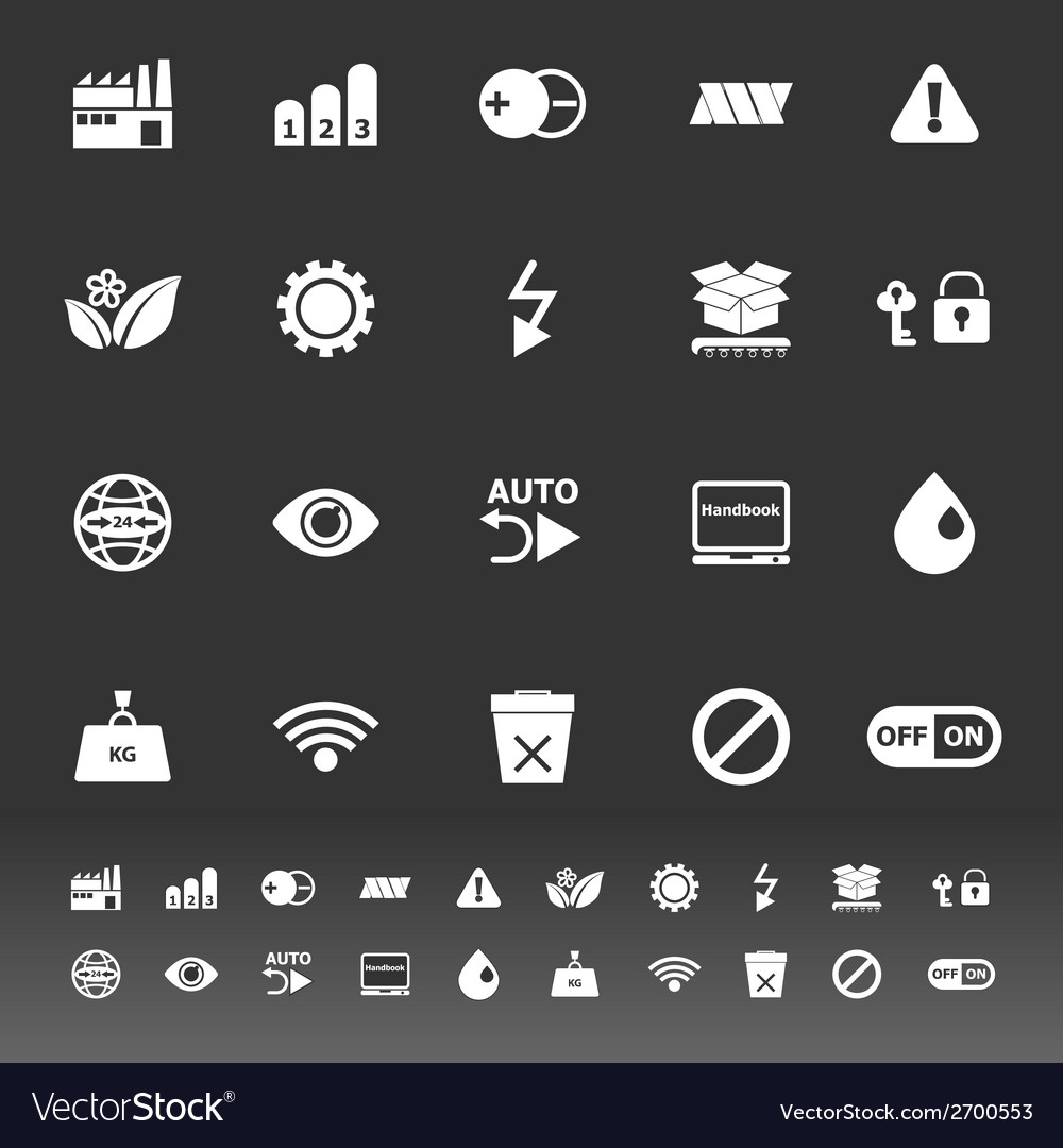 Electronic sign icons on gray background vector | Price: 1 Credit (USD $1)