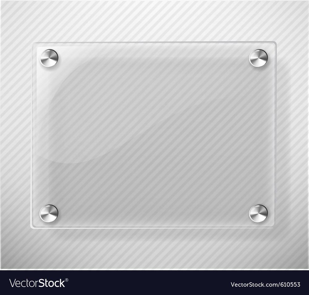 Glass plate on white background vector | Price: 1 Credit (USD $1)