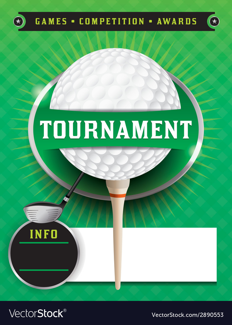 Golf tournament template vector | Price: 1 Credit (USD $1)