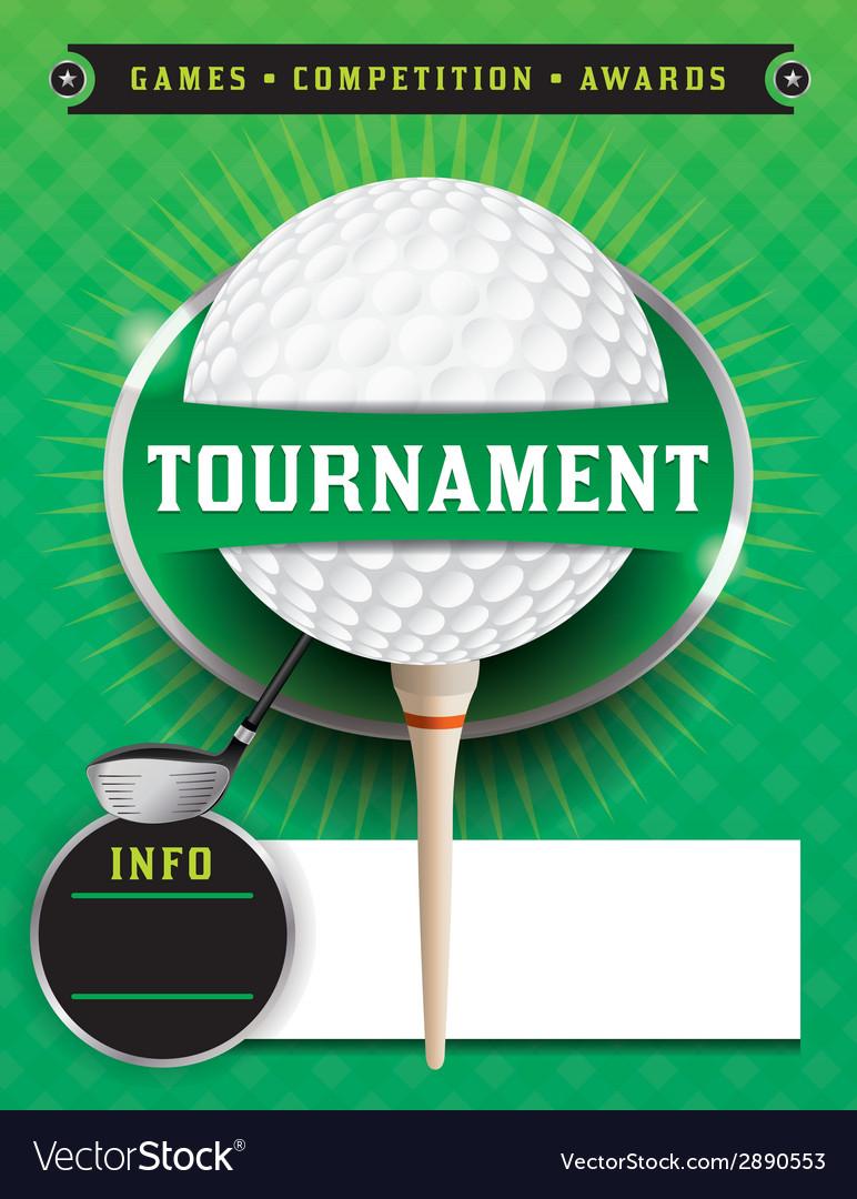 Golf tournament template vector | Price: 1 Credit (USD $1)