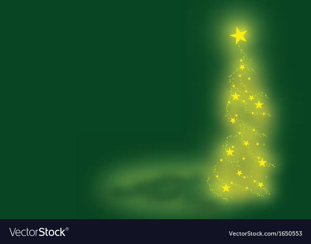 Green xmas tree vector | Price: 1 Credit (USD $1)