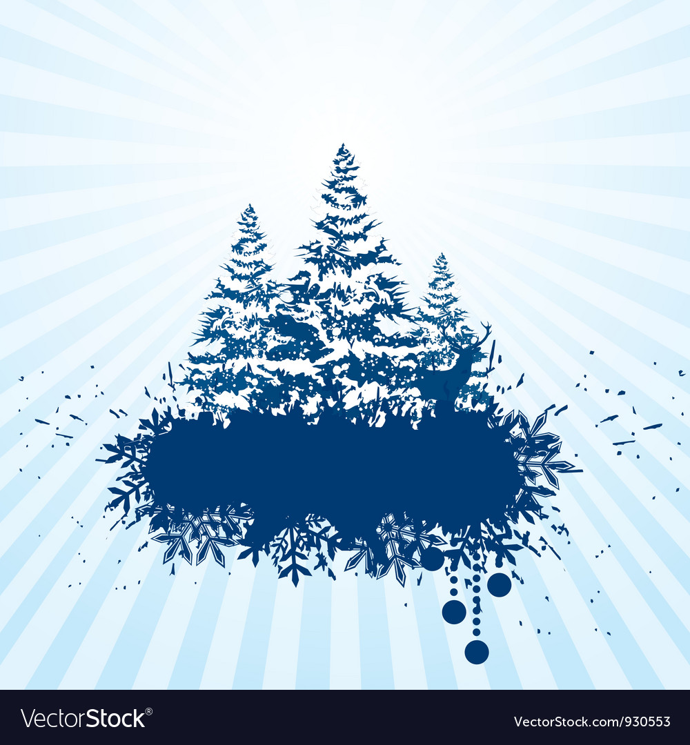 Grunge christmas banner vector | Price: 1 Credit (USD $1)