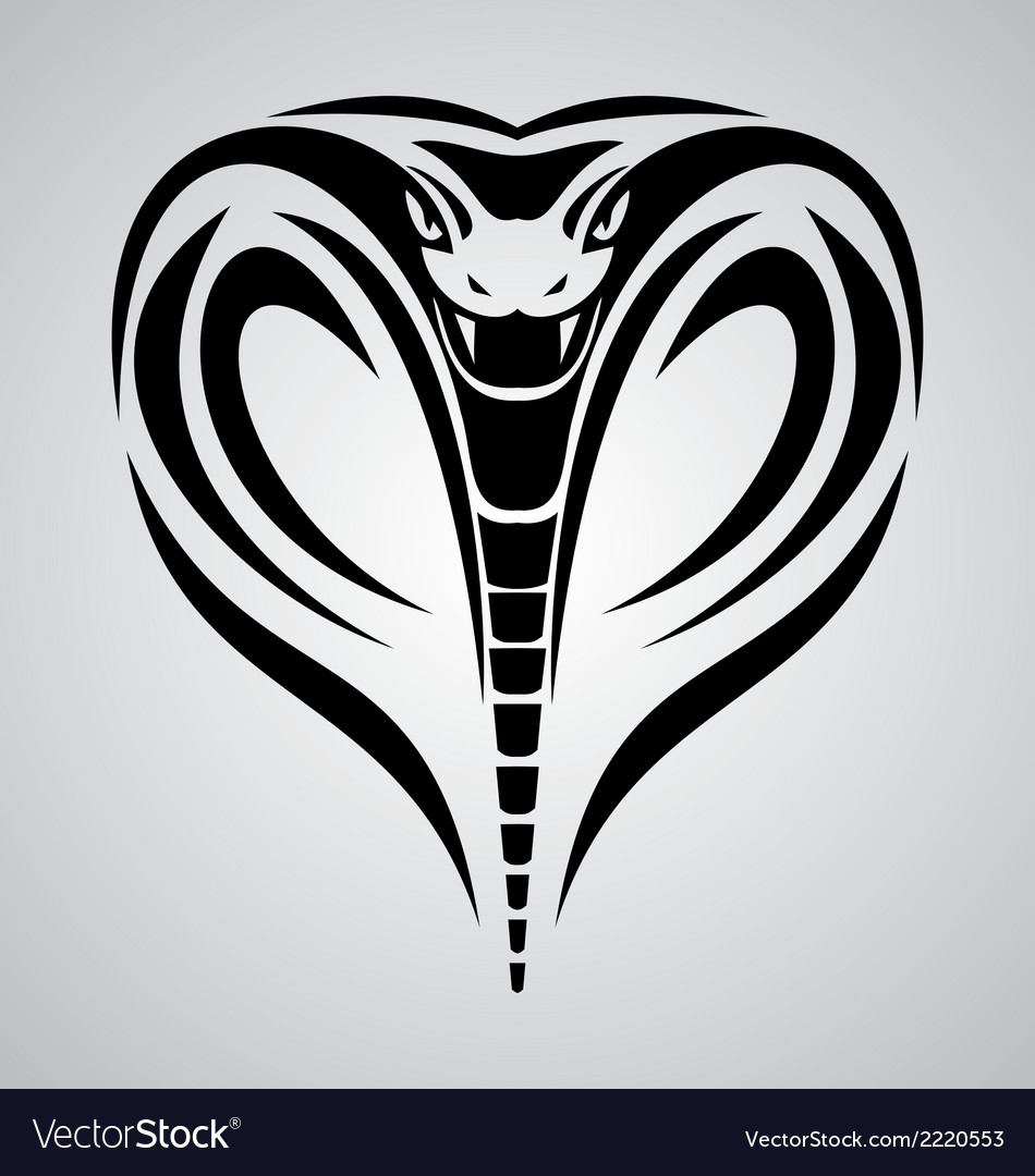 King cobra head tribal vector | Price: 1 Credit (USD $1)