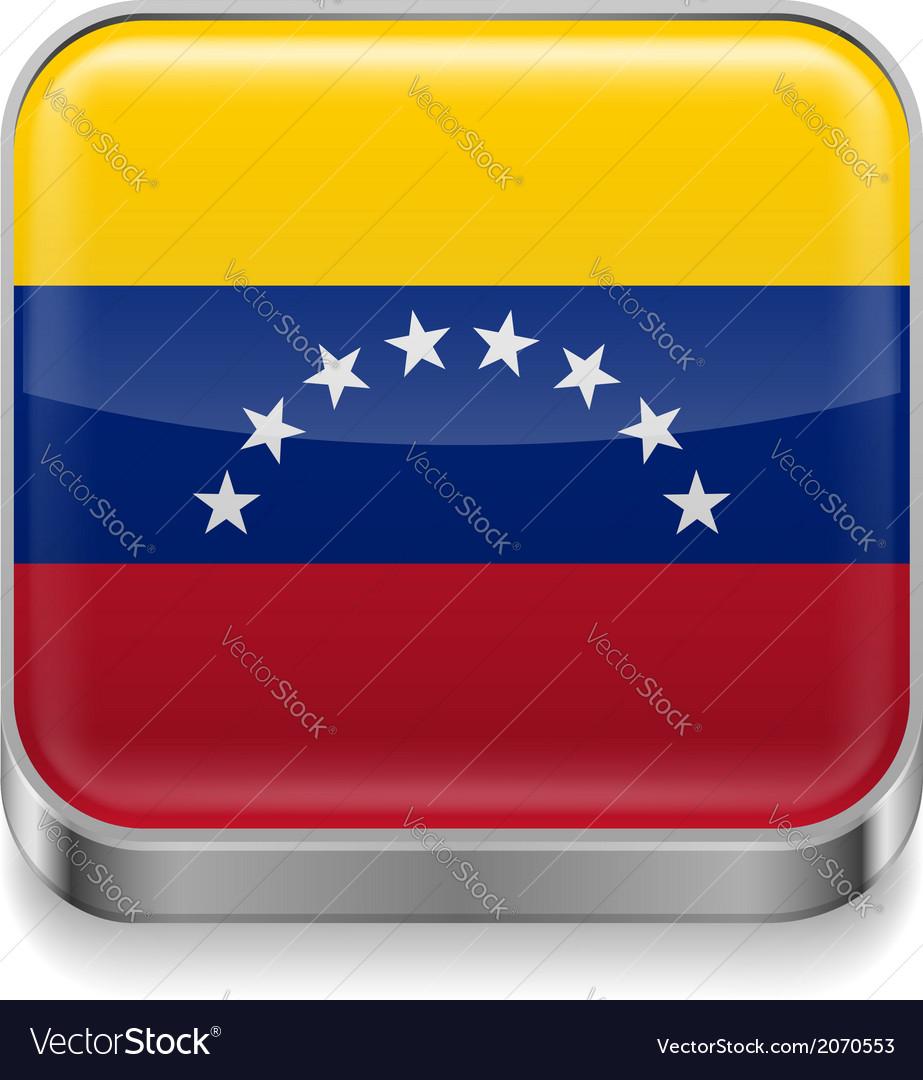 Metal icon of venezuela vector | Price: 1 Credit (USD $1)