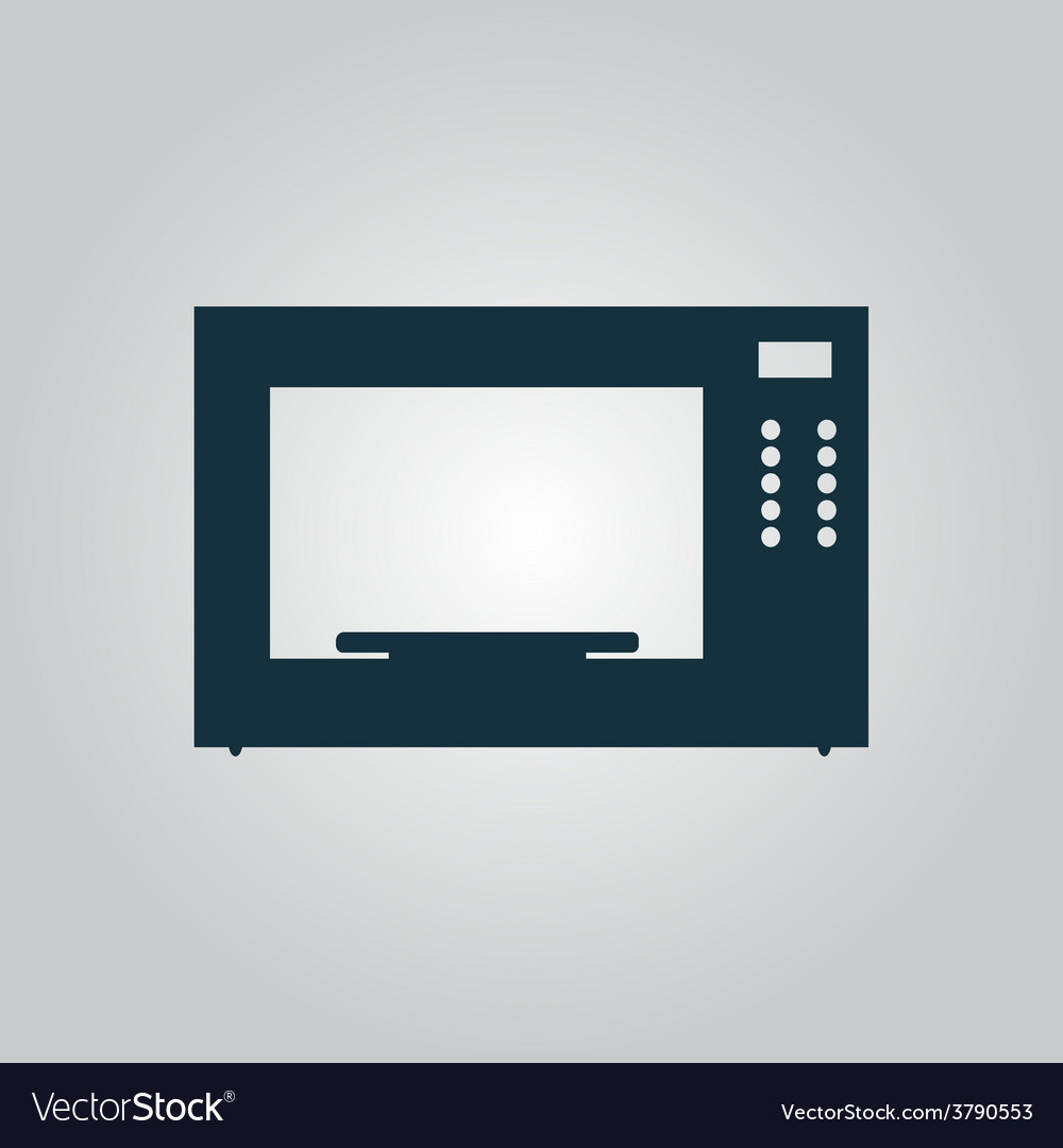 Microwave oven icon sign and button vector | Price: 1 Credit (USD $1)