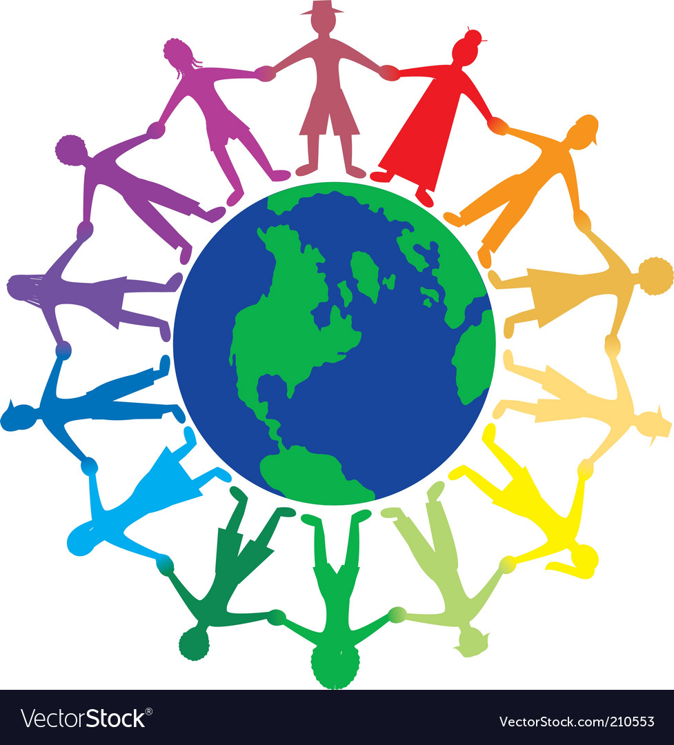 People world vector | Price: 1 Credit (USD $1)