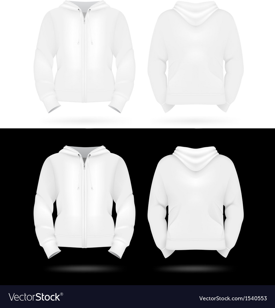 Plain training hooded jackets template vector | Price: 1 Credit (USD $1)