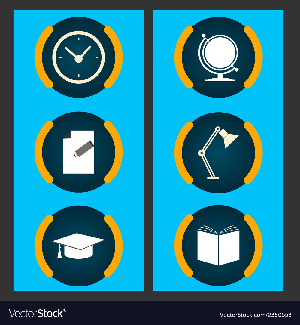 Six items related to education vector | Price: 1 Credit (USD $1)