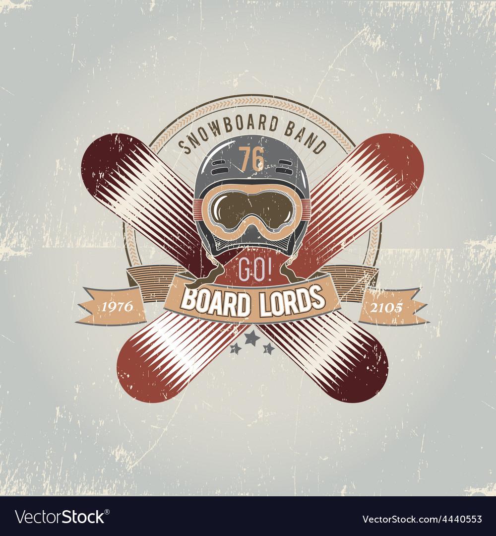 Snowboard logo vector | Price: 1 Credit (USD $1)