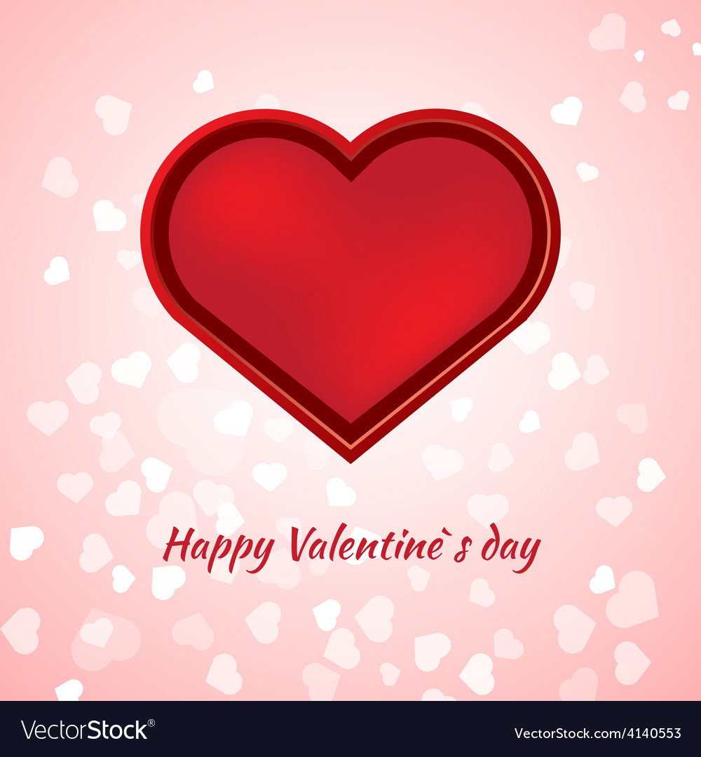 Valentines day card on pink background vector | Price: 1 Credit (USD $1)