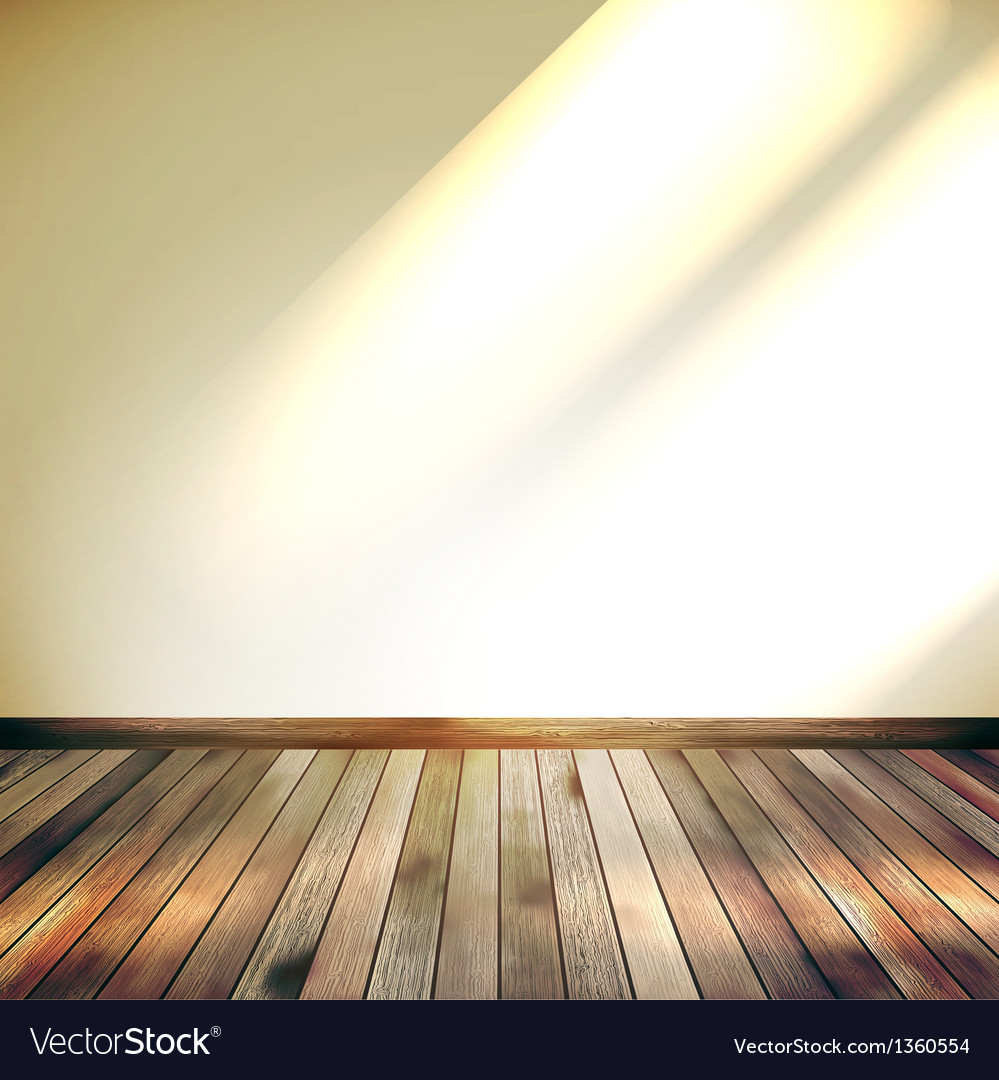Beige blue wall with lights wooden floor eps 10 vector | Price: 1 Credit (USD $1)