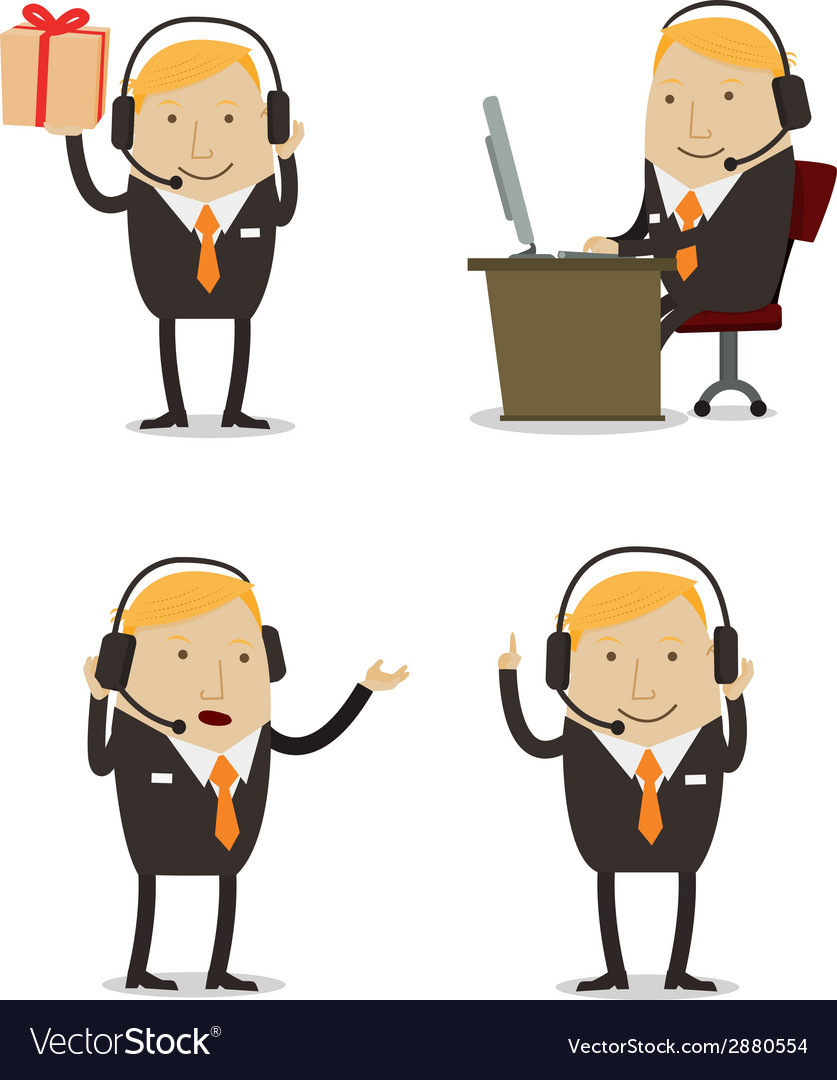 Customer services businessman vector | Price: 1 Credit (USD $1)