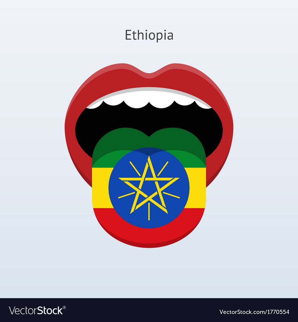 Ethiopia language abstract human tongue vector | Price: 1 Credit (USD $1)