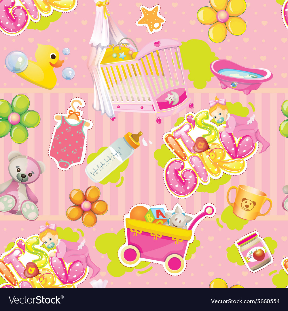 Its a girl pattern vector | Price: 1 Credit (USD $1)