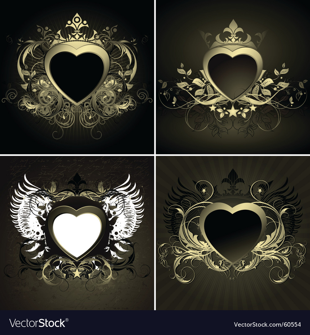 Ornate hearts vector | Price: 3 Credit (USD $3)