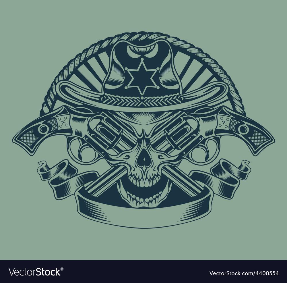 Sheriffs skull vector | Price: 3 Credit (USD $3)