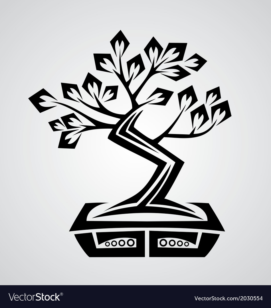 Tribal bonsai vector | Price: 1 Credit (USD $1)