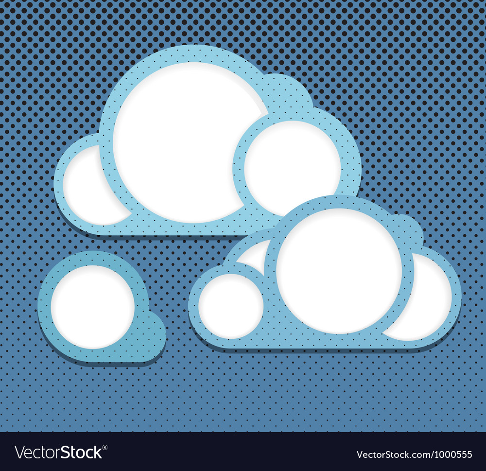 Abstract clouds vector | Price: 1 Credit (USD $1)