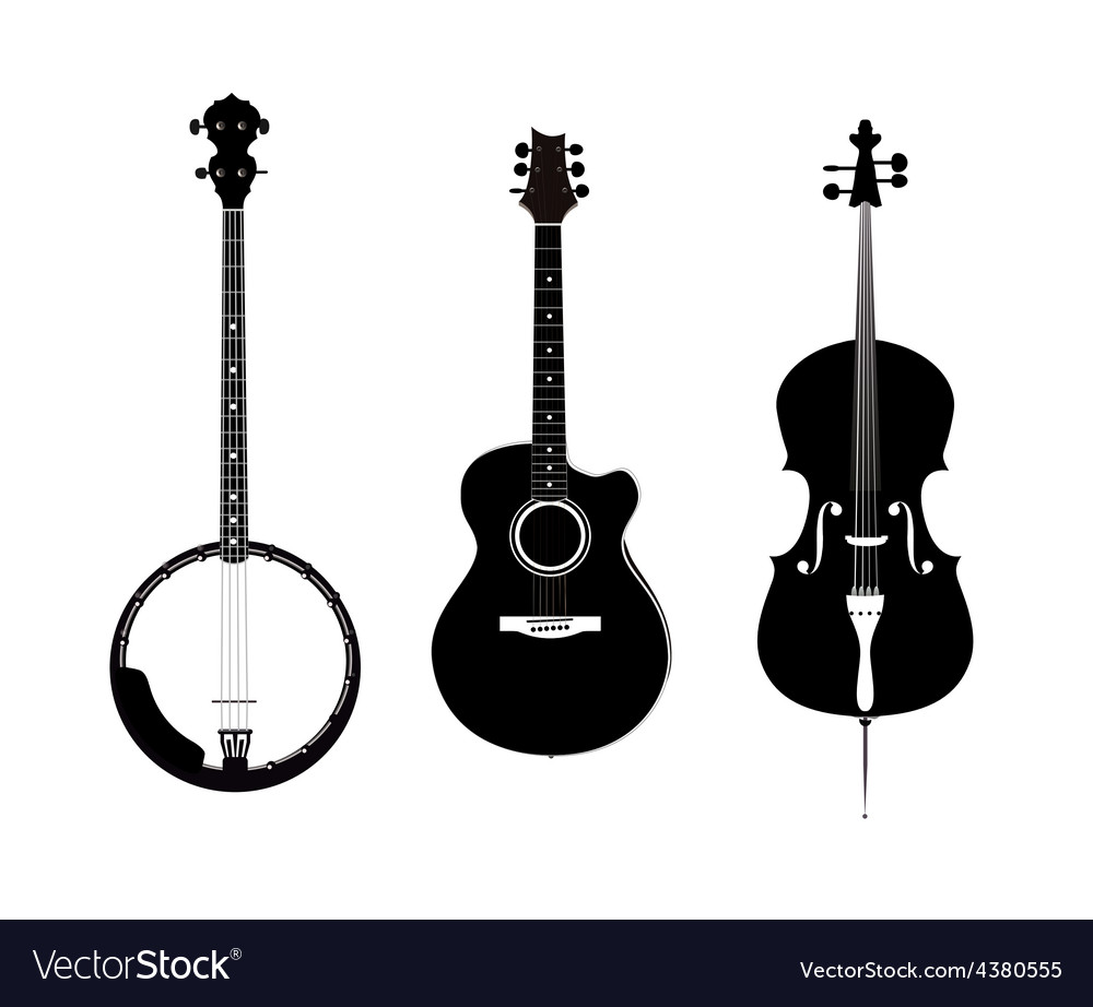 Banjo acoustic guitar and banjo vector | Price: 1 Credit (USD $1)