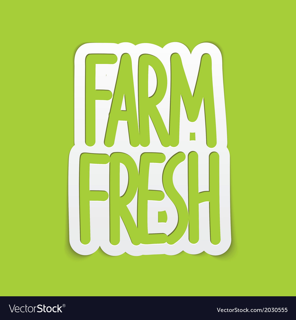 Farm fresh hand written lettering calligraphy vector | Price: 1 Credit (USD $1)
