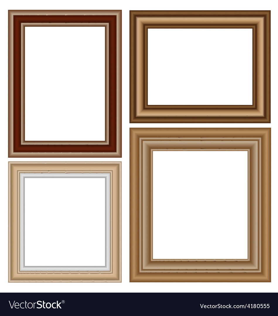 Frames isolated on white vector | Price: 1 Credit (USD $1)