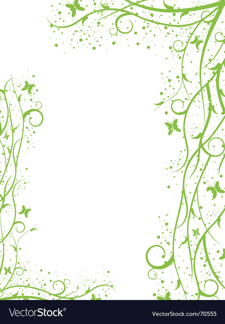 Green border vector