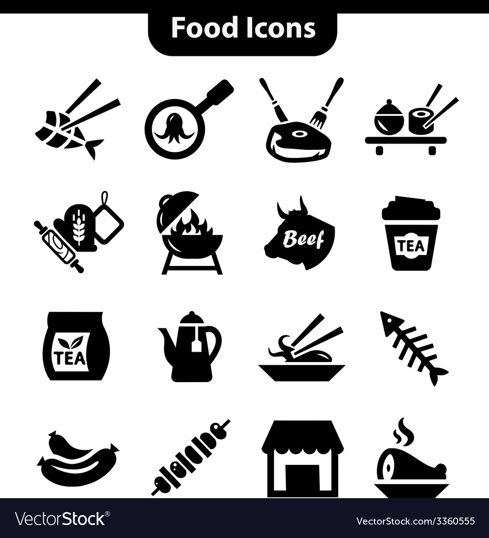 Meat icons set vector | Price: 1 Credit (USD $1)