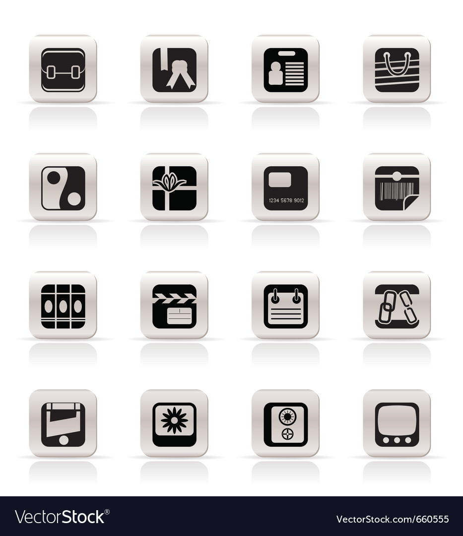 Simple business and internet icons vector | Price: 1 Credit (USD $1)