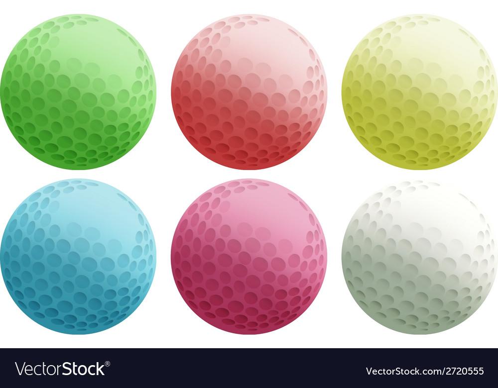 Six colourful balls vector | Price: 1 Credit (USD $1)