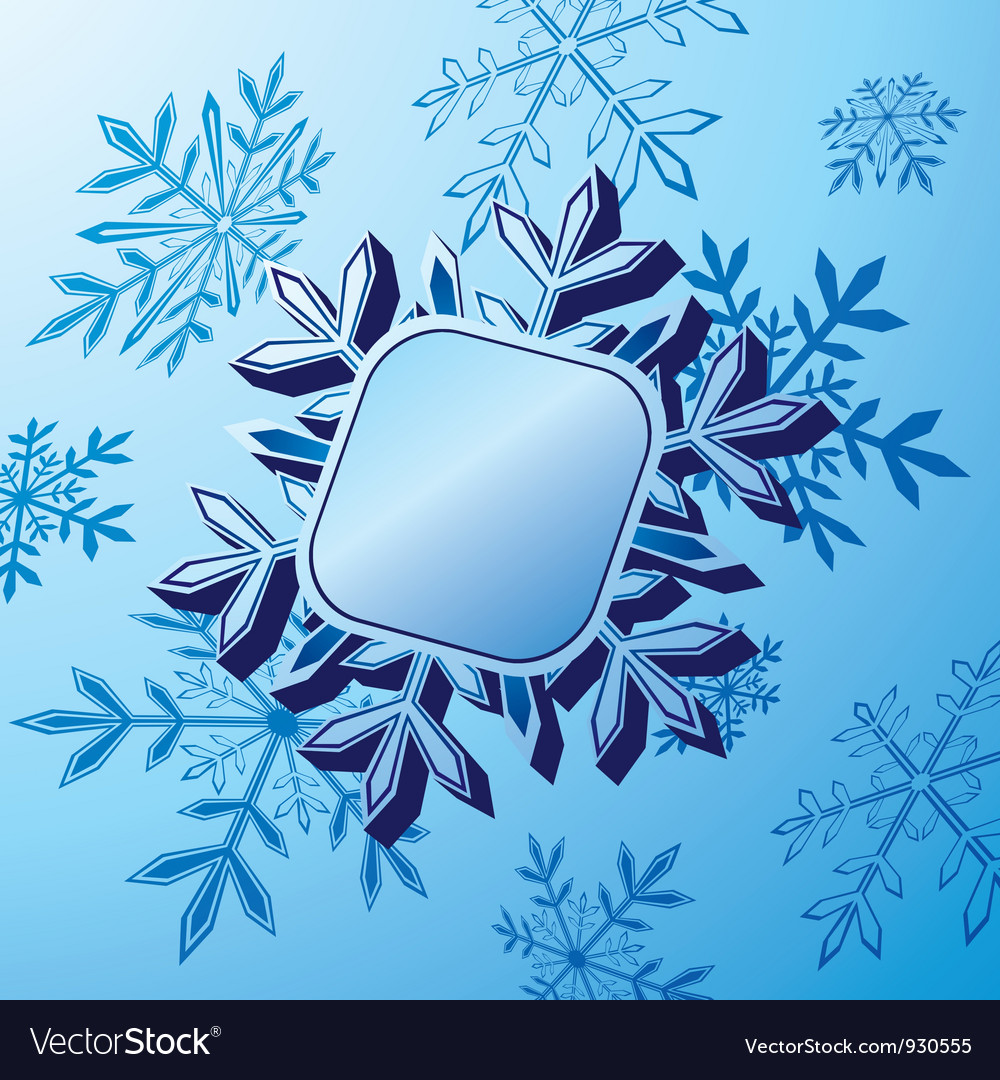 Snowflake banner vector | Price: 1 Credit (USD $1)