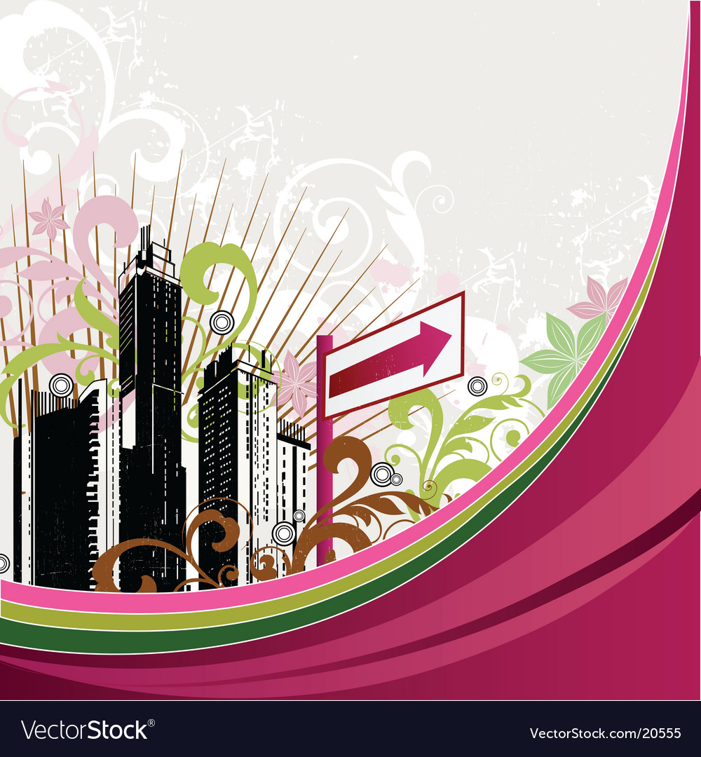 Urban city design vector | Price: 1 Credit (USD $1)