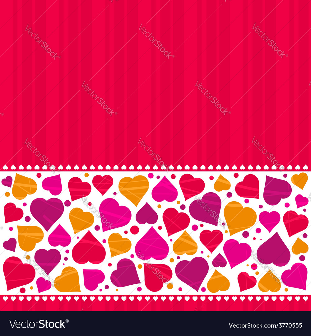 Valentine background with hearts vector   Price: 1 Credit (USD $1)