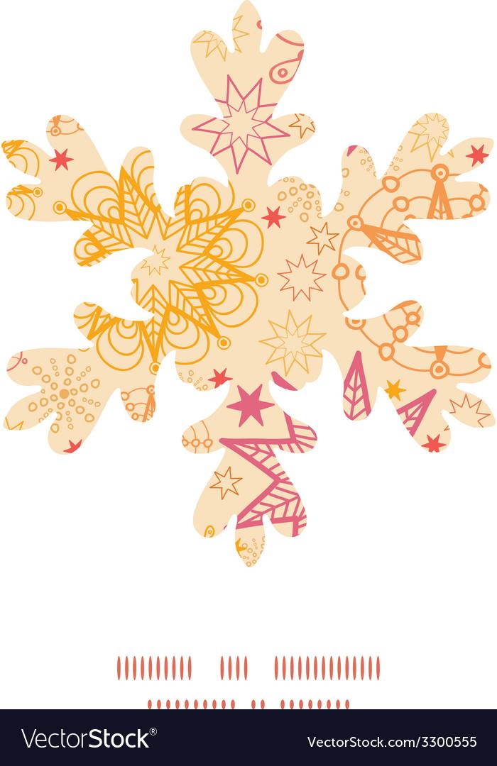 Warm stars christmas snowflake silhouette pattern vector | Price: 1 Credit (USD $1)